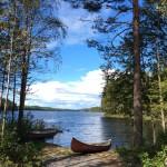 El lago y las barcas
