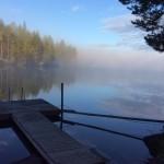 Por las tardes y por las mañanas se llena de neblina